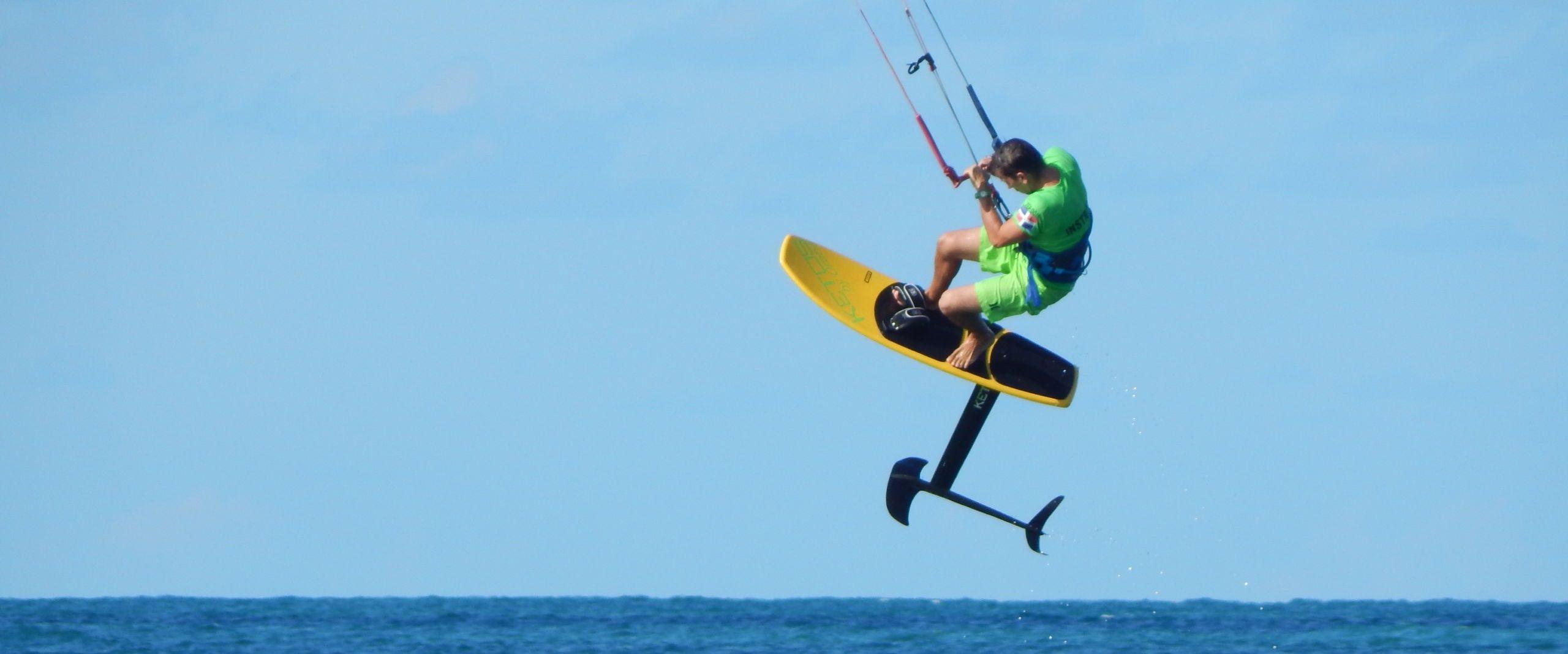 hydrofoil kitefoiling in las terrenas dominican republic