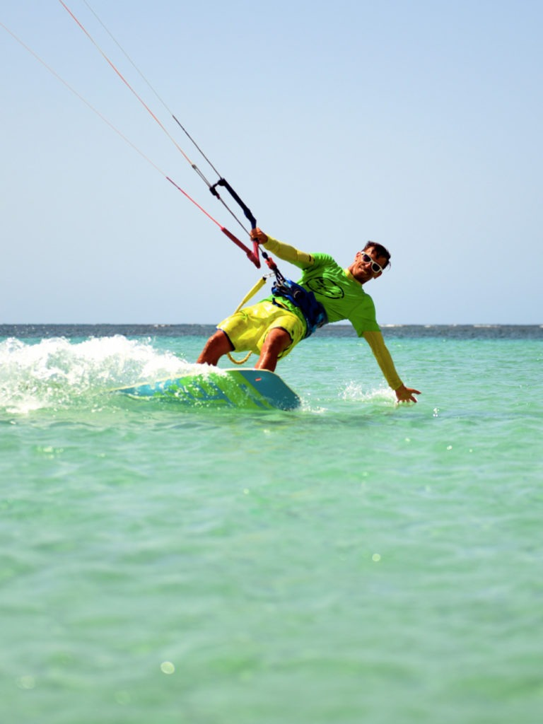 Vincent kite instructor at our kiteboarding school in las terrenas