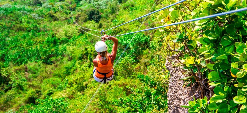 Ziplining in Samana