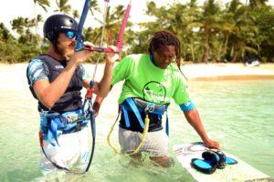 kitesurfing lessons las terrenas dominican republic kiteboard kiteboarding
