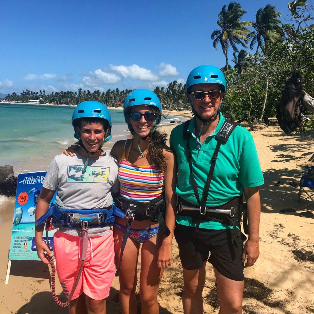kitesurf las terrenas dominican republic family trip samana