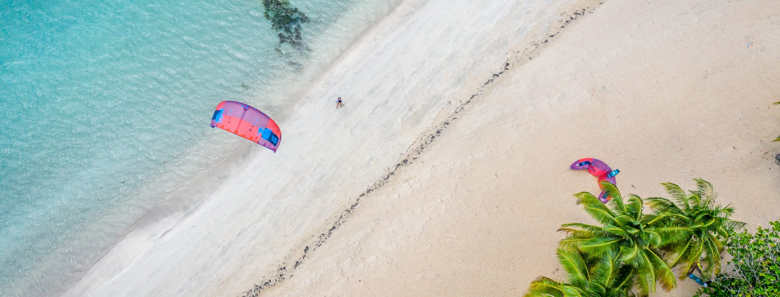 vue aérienne de la plage en République Dominicaine