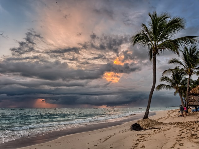 Sunrise on the beach, Punta Cana, Dominican Republic